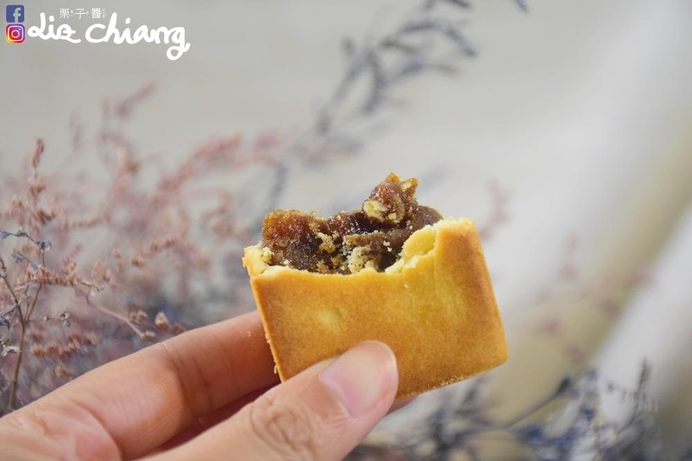 食蔬茶齋,洛神花酥,梅子酥DSC_0055Liz chiang 栗子醬.JPG